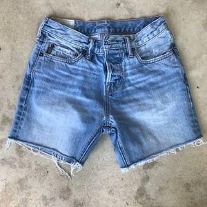 Abercrombie & Fitch High Rise Denim Cutoff Shorts